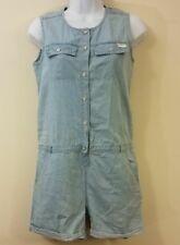 7 Seven For All Mankind Girls Romper Size XL Blue Denim Button Pockets L