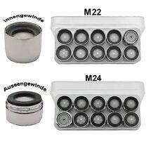 10er Pack Perlator - Ersatz Strahlregler Luftsprudler  M22x1IG od. M24x1AG