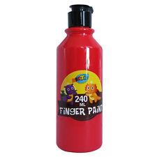 Finger Paint 240ml Bottle Kids Crafts Arts Painting Activity Creative Colourful