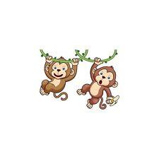 Adesivo bambino bebè Scimmie ref 3574