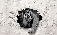 Fototapete Tapete Wandbild 15F0139540 Vlies #STICKER GRATIS# 3D Tiger kommt aus