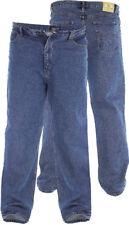 "Duke Alto Da Uomo Extra Lungo Jeans 32"" -50"" Blu Slavato Rockford Gamba 38"" (RJ710)"