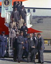 President John F. Kennedy exits Air Force One in St. Louis Missouri Photo Print