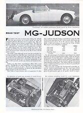 Mg Judson examen routier par magazine road & track mai 1958 nos
