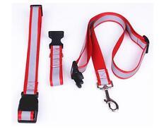 Handsfree Adjustable Dog Running Jogging Qalking Leash Waist Lead Red / Black