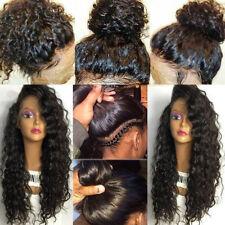 Brazilian Human Hair 360 Front Full Lace Wig Silk Base Curly Wavy Virgin Hair sg
