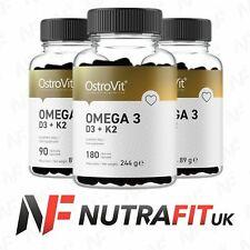 OSTROVIT OMEGA 3 D3 K2 vitamin E heart bones blood fatty acids 90 180 caps