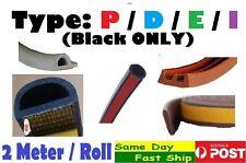 .EPDM Type P D E I seal strip 2M Auto car door window rubber foam self adhesive