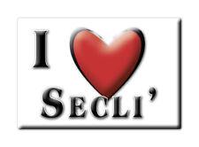 CALAMITA PUGLIA ITALIA FRIDGE MAGNET MAGNETE SOUVENIR I LOVE SECLI' (LE)