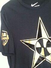 AUTHENTIC NIKE USA BASKETBALL HERO BLACK/GOLD T SHIRT 00033992XUS5