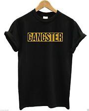 Gangster Gold Print T Shirt Chains Swag Hipster Chav Indie Slogan Logo