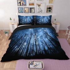 Forest Under Starry Sky Duvet Cover Pillow Case Twin Full Queen King Bedding Set