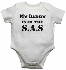 Il mio papà è nell' S.A.S - NUOVA personalizzata Baby Gilet BODYSUITS Per Ragazzi Ragazze