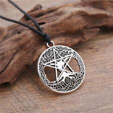 Tree Of Life Wicca Pentagram Yggdrasil Pentacle Mens Pendant Vintage Necklaces