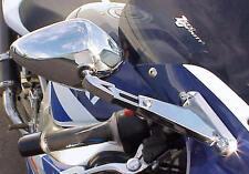 CHROME BILLET MIRRORS for Honda Suzuki Kawasaki Yamaha