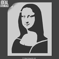 Mona Lisa Stencil Da Vinci Reusable Plastic Art Craft Wall decor Ideal Stencils