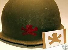 M1 M2 M1C Helmet Stencil 504th PIR 82'd Airborne Div Paratrooper casque pochoir