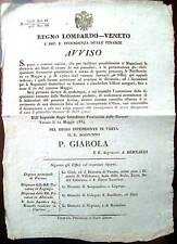 1834 FILATI DI COTONE VERONESI LEGNAGO CAPRINO ILLASI