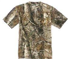 Caballeros Oak Tree Camo Caza Camiseta Para Hombre Tallas Pesca Tiro Madera Algodón Top