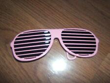 NEW- HIP HOP Pink Shutter Shades Sunglasses designed Belt Buckle