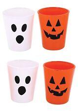 Shot Glasses Set of 4 Halloween Face
