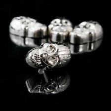 Borchie teschio con vite 16X25mm argento IN OTTONE ANTIRUGGINE quantità a scelta