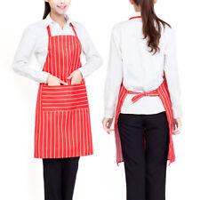 2X Kitchen Waist Apron Pockets Chef Cooking Baking Bistro Bar Cafe Pub Waiter AU