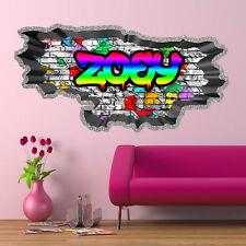 3D personnalisé graffiti fissuré Art Mural Autocollant Décalque wsdpgn23