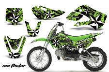 AMR RACING MX NUMBER PLATE STICKER DECAL KAWASAKI KLX 110 02-09 KX 65 02-12 NSG
