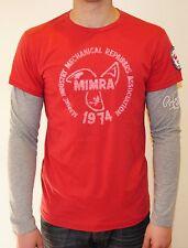 Scotch & Soda Herren Langarm-Shirt Größe wählbar rot mit Print 06010150503