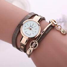 Fashion Women's Ladies Watch Stainless Steel Leather Bracelet Wrist Watches CA