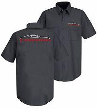 New Gray Chevrolet 5th Generation Camaro Embroidered Work Mechanic Shirt SS Z28