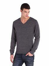 NEW Diesel Brand Men's K-BEN Vneck Sweater Knit LS Shirt  Grey S M L XL