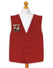 Rojo Cerveza Disfraz Chaleco Para Todas las ocasiones FIESTAS Crazy Diseños