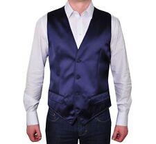 D&G DOLCE & GABBANA Weste Blau Waistcoat Vest Blue Gilet Bleu 01186