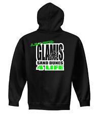 GLAMIS SAND DUNES 4 LIFE JUST RIDE HOODIE SWEAT SHIRT ATV QUAD BANSHEE DUNE RAIL