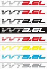 DODGE AVENGER 3.6L Vinyl Sticker Decals - SET of 2 - VVT3.6L