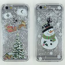 Christmas Snowflake Snow Globe Hard Liquid Case Cover iPhone & Samsung Galaxy