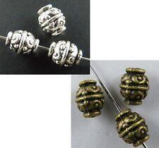 150pcs Tibetan Silver/Bronze Nice Flower Spacer Beads 9x7mm 1034