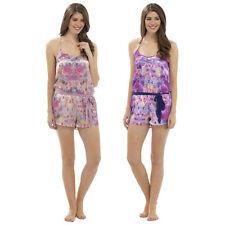 Womens Ladies Satin Floral  PlaySuit Night Wear Lounge wear Set