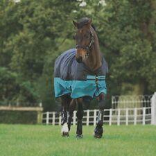 Horseware Mio Turnout Lite 0g - Black/Turqoise & Black - Weidedecke
