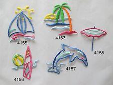 Sailboat,Sunshine,Ball,Coconut Tree,Dolphin ,Umbrella Embroidery Applique Patch