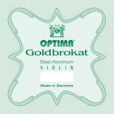 OPTIMA GOLDBROKAT Aluminium Geige Saiten SATZ Violin Strings SET