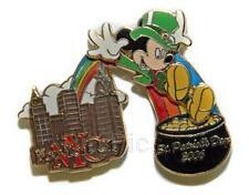 Disney NYC WOD St. Patrick's Day Mickey Mouse Pin