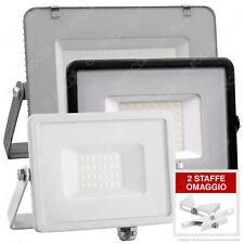 FARO LED V-Tac Faretto 10W 20W 30W 50W 100W da Esterno Sottile Slim IP65 SMD RGB