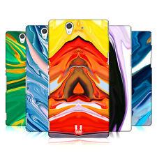 HEAD CASE Coloré Agates de Coque Arrière Dur SONY pour téléphones portables 3