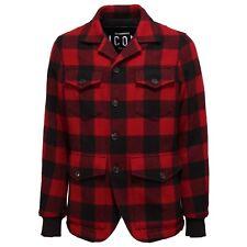 5930T giacca piumino uomo DSQUARED2 ICON lana rosso/nero jacket men