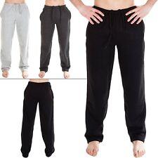 Para Hombre Dobladillo Abierto Polar Chándal jogging Chándal Pantalones Sudadera Pantalón Tamaño S 2XL 5XL