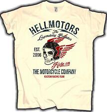Hellmotors Biker T-Shirt Legendary Builder Chopper Hot Rod Cafe Racer  Natur