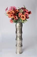 Modern aluminium column vase, textured bamboo shaped contemporary vase, 2 sizes